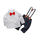 cheap Baby Boys' One-Piece-Baby Boys' Simple Polka Dot Long Sleeve Cotton Clothing Set
