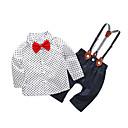 ieftine Set Îmbrăcăminte Băieți Bebeluși-Bebelus Băieți Simplu Zilnic Buline Manșon Lung Bumbac / Poliester Set Îmbrăcăminte Alb 90