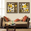 ieftine Acțibilde de Perete-Floral/Botanic Ilustrație Wall Art,PVC Material cu Frame For Pagina de decorare cadru Art Sufragerie Interior