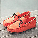 cheap Men's Boat Shoes-Men's Suede Shoes Suede Spring / Fall Flats Walking Shoes Light Orange / Green / Blue / Comfort Loafers
