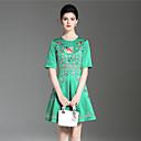 זול נעלי בד ומוקסינים לגברים-פרח, פרחוני - שמלה גזרת A נדן סגנון סיני בגדי ריקוד נשים