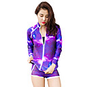cheap Wetsuits, Diving Suits & Rash Guard Shirts-HISEA® Women's Rash Guard Dive Skin Suit Windproof, SPF50, UV Sun Protection Lycra Long Sleeve Swimwear Beach Wear Diving Suit Geometric / UV Resistant / Quick Dry / Stretchy