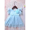 ieftine Set Îmbrăcăminte Bebeluși-Copil Fete Zilnic / Concediu Mată Fără manșon Celofibră Rochie Albastru Deschis 100 / Draguț