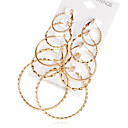 cheap Earrings-Women's Hoop Earrings - Gold Plated Statement, Fashion, Oversized Gold For Evening Party / Prom / 10pcs