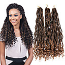 cheap Hair Braids-Curly / Sister Locs / Micro Locs New Arrival / Ombre Braiding Hair / African Braids Synthetic Hair 1pc / pack Pre-loop Crochet Braids Hair Braids Medium Length