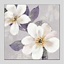 זול ציורי פרחים/צמחייה-ציור שמן צבוע-Hang מצויר ביד - פרחוני / בוטני מודרני בַּד