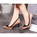 cheap Women's Heels-Women's Shoes Nubuck leather Spring / Fall Comfort Heels Stiletto Heel Black / Red / Almond