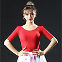 olcso Latin ruha-Latin tánc Felsők Női Teljesítmény Jég selyem Fodrozott Féhosszú Ejtett Felső