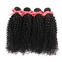 cheap One Pack Hair-4 Bundles Brazilian Hair Kinky Curly Human Hair Natural Color Hair Weaves 8-28 inch Human Hair Weaves Hot Sale Human Hair Extensions