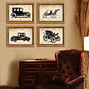 ieftine Acțibilde de Perete-Vintage Floral/Botanic Ilustrație Wall Art,PVC Material cu Frame For Pagina de decorare cadru Art Sufragerie Dormitor Bucătărie Cameră
