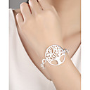 cheap Necklaces-Women's Charm Bracelet - Silver Plated Tree of Life Fashion Bracelet Silver For Daily