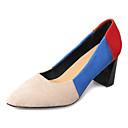 זול נעלי עקב לנשים-בגדי ריקוד נשים נעליים PU אביב / סתיו נוחות עקבים עקב עבה שחור / כחול