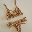 preiswerte Hundekleidung-Damen Dreieck Bikinis - Grundlegend, Solide Gurt Tanga-Bikinihose / Super Sexy
