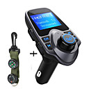 cheap Bluetooth Car Kit/Hands-free-Original T11 Bluetooth Car Kit Handfree FM Transmitter MP3 Music Player Dual USB Car Charger Support TF Card U Disk Play