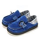 זול נעלי ילדים-בנים נעליים עור / בד אביב נוחות / נעליים מגולפות שטוחות אבזם / סרט גומי ל כחול כהה / ירוק בהיר