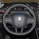 """זול כיסויים להגה-כיסויים להגה 38ס""""מ שחור עבור Peugeot 308 / 2008 / 308S כל השנים"""