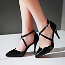 cheap Women's Heels-Women's Shoes PU(Polyurethane) Spring / Fall Comfort / Novelty Heels Stiletto Heel Pointed Toe / Round Toe Buckle Black / Yellow / Red
