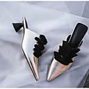 olcso Női papucsok és klumpák-Női Cipő Bőr Tavasz / Ősz Kényelmes Klumpák és papucsok Magas Arany / Fehér