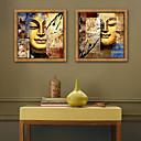 baratos Pinturas Abstratas-Abstrato Religioso Ilustração Arte de Parede,Plástico Material com frame For Decoração para casa Arte Emoldurada Sala de Estar Interior