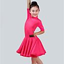 זול בגדי ריקוד לילדים-ריקוד לטיני שמלות בנות הצגה ספנדקס סלסולים חצי שרוול שמלה