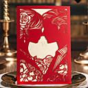 זול הזמנות לחתונה-הזמנות ומעטפות הזמנות לחתונה 20 - כרטיסי הזמנה סגנון קלאסי נייר עם תבליטים מובלט