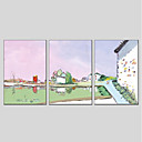 Χαμηλού Κόστους Οργάνωση Καλωδίων-Hang-ζωγραφισμένα ελαιογραφία Ζωγραφισμένα στο χέρι - Τοπίο Μοντέρνα Καμβάς