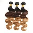 tanie Dopinki ombre-3 zestawy Włosy brazylijskie Body wave Włosy naturalne Ombre Ludzkie włosy wyplata Przejście kolorów / Natutalne / Najwyższa jakość Ludzkich włosów rozszerzeniach