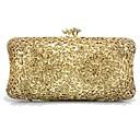 זול Headsets & Headphones-בגדי ריקוד נשים שקיות פלסטי / מתכת תיק ערב פרטים מקריסטל זהב / כסף