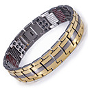 cheap Men's Bracelets-Men's Chain Bracelet / Hologram Bracelet / Magnetic Bracelet - Bracelet Gold / Black / Silver For Causal / Daily
