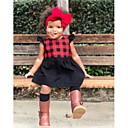 זול רמקולים-שמלה ניילון אביב קיץ ללא שרוולים ליציאה חגים אחיד משובץ הילדה של חמוד בוהו אודם