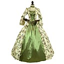 cheap RC Parts & Accessories-Victorian Rococo Costume Women's Adults' Dress Green Vintage Cosplay 100% Cotton 3/4-Length Sleeve Puff/Balloon
