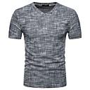 preiswerte Rubiks Würfel-Herrn Street Schick Alltag T-shirt, V-Ausschnitt Frühling Sommer Kurzarm Polyester