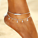 cheap Anklet-Anklet - Star Bohemian, Fashion, Boho Gold / Silver For Gift / Going out / Bikini / Women's