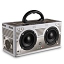 cheap Speakers-W9 Bluetooth Speaker Bluetooth 4.0 Audio (3.5 mm) 3.5mm AUX Bookshelf Speaker Gray