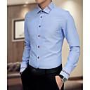 cheap Modern Shoes-Men's Plus Size Shirt - Solid Colored