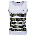 זול בטיחות-להסוות צווארון עגול ספורט כותנה, עליונית טנק - בגדי ריקוד גברים / ללא שרוולים