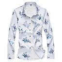 זול פרחים מלאכותיים-פרחוני כותנה, חולצה - בגדי ריקוד גברים