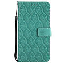 cheap Cell Phone Cases & Screen Protectors-Case For Huawei P8 Lite (2017) P10 Lite Card Holder Wallet with Stand Flip Pattern Full Body Cases Solid Color Lace Printing Hard PU