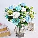baratos Flor artificiali-Flores artificiais 1 Ramo Pastoril Estilo Rosas Guirlandas & Flor de Parede