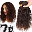זול תוספות שיער בגוון טבעי-3 חבילות שיער ברזיאלי קלאסי / Kinky Curly שיער אנושי טווה שיער אדם שוזרת שיער אנושי תוספות שיער אדם / קינקי קרלי