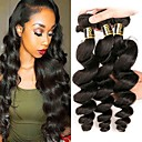 cheap Natural Color Hair Weaves-Peruvian Hair Loose Wave Natural Color Hair Weaves 3 Bundles 8-28 inch Human Hair Weaves Natural Black Human Hair Extensions