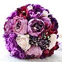 """זול מזכרות מחזיקי מפתחות-פרחי חתונה זרים חתונה עשוי משי גס 5.91""""(לערך.15ס""""מ)"""
