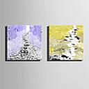 baratos Almofadas de Decoração-Estampados de Lonas Esticada Modern, 2 Painéis Tela de pintura Quadrada Estampado Decoração de Parede Decoração para casa