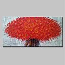 baratos Pinturas Florais/Botânicas-Pintura a Óleo Pintados à mão - 3D Floral / Botânico Modern Tela de pintura