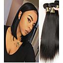 זול תוספות שיער בגוון טבעי-3 חבילות שיער ברזיאלי Body Wave שיער בתולי טווה שיער אדם שוזרת שיער אנושי 8 א תוספות שיער אדם
