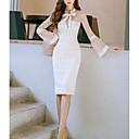 baratos Roupas de Mergulho & Camisas de Proteção-Mulheres Para Noite Sofisticado Tubinho Vestido - Renda, Côr Sólida Colarinho de Camisa Médio