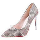 cheap Women's Heels-Women's Shoes PU(Polyurethane) Spring Comfort Heels Stiletto Heel Pointed Toe Gold / Silver