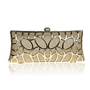 cheap Clutches & Evening Bags-Women's Bags Metal Evening Bag Crystals Floral Print Blue / Gold / Silver
