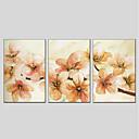 preiswerte Florale/Botansiche Gemälde-Hang-Ölgemälde Handgemalte - Blumenmuster / Botanisch Modern Segeltuch