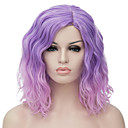 cheap Synthetic Capless Wigs-Synthetic Wig Wavy Bob Haircut Synthetic Hair Ombre Hair / Middle Part Wig Women's Short Capless
